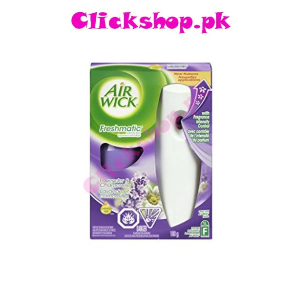 Air Wick Freshmatic Automatic Spray Air Freshener Starter Kit with Odor Detect, Lavender and Chamomile, 1 Coun