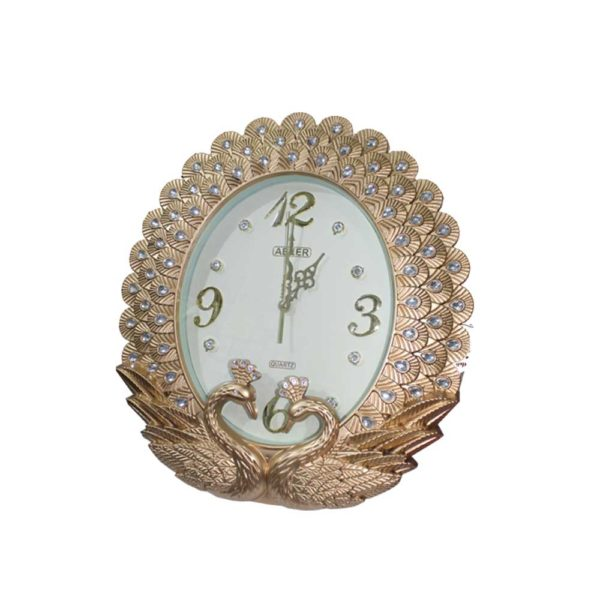 Golden color clock for office and home use