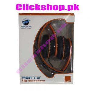 Penta Flip Headphone Orange Color - shop online in pakistan