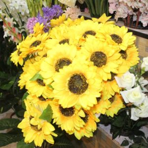yellow color flower decoration piece - shop online in pakistan