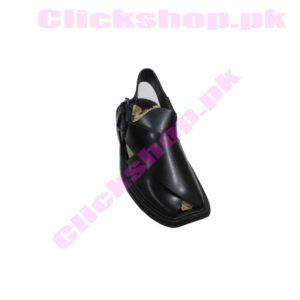 Handmade Original Leather Handmade Black Color Peshawari Chappal For Men - shop online in pakistan