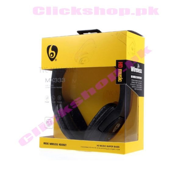 OVLENG MX333 Mega Bass Stereo Wireless Bluetooth 4.1 Over ear Headset Support all features - shop online in pakistan