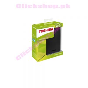 Toshina USB 3.0 Hard Drive 500GB Canvio Basics - Shop online in pakistan